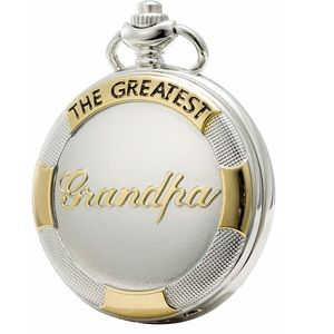 """Other - Silver&Gold """"The Greatest Grandpa"""" Pocket Watch"""